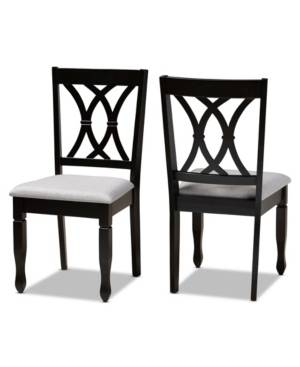 Furniture Reneau Transitional 2 Piece Dining Chair Set with Seat  - Gray