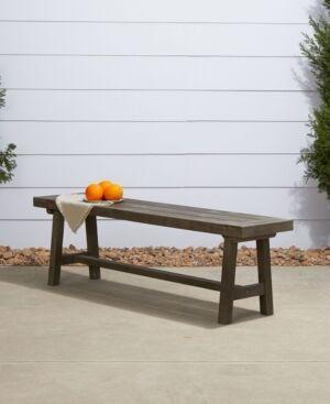 Vifah Renaissance Outdoor Patio Dining Picnic Bench  - Gray