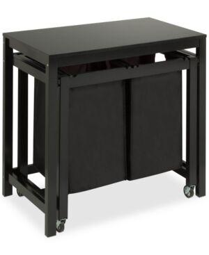 Honey Can Do Double Laundry Sorter Folding Table  - Black
