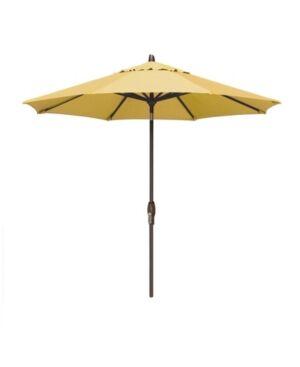 Treasure Garden Patio Umbrella, Outdoor Bronze 9' Auto-Tilt, Quick Ship  - Buttercup