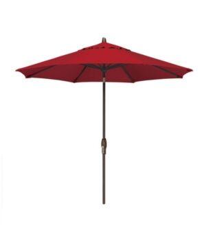 Treasure Garden Patio Umbrella, Outdoor Bronze 9' Auto-Tilt, Quick Ship  - Red