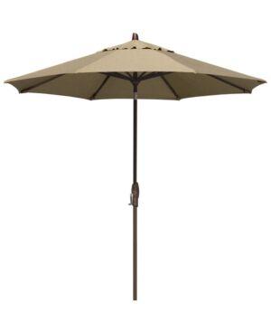 Treasure Garden Patio Umbrella, Outdoor Bronze 9' Auto-Tilt, Quick Ship  - Heather Beige