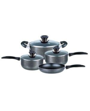 Brentwood Appliances Brentwood Applieances 7 Piece Non-Stick Cookware Set  - Charcoal