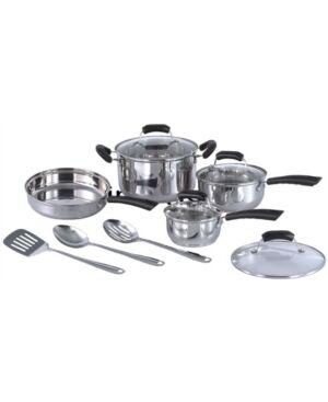 Spt Appliance Inc. Spt 11pc Stainless Steel Cookware set  - Platinum