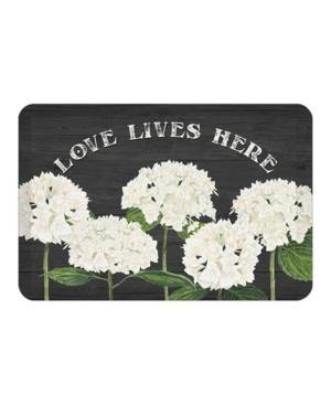 Laural Home Simple Beauty Kitchen Mat  - Black