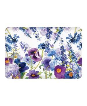 Laural Home Wild Garden Kitchen Mat  - Royal Blue