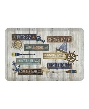 Laural Home Beach Front Kitchen Mat  - Heather Gray
