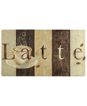 "Home Dynamix Cook N Comfort Vintage ""Latte"" Embossed Cushioned Anti-Fatigue Kitchen Mat  - Dark Beige"