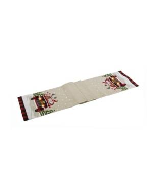 Manor Luxe Snowy Car By Santa Light up Christmas Table Runner  - Multi