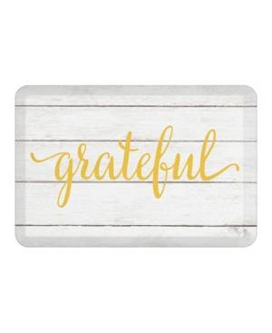 Laural Home Grateful Kitchen Mat  - Off White