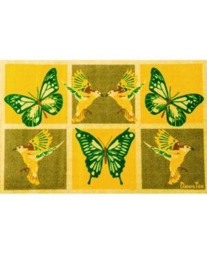 Floortex Doortex Sun Room Runner Mat Butterfly Design Bedding  - Multi
