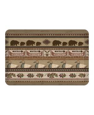 Laural Home Lodge Look Kitchen Mat  - Brown