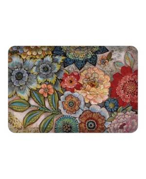 Laural Home Boho Bouqet Kitchen Mat  - Multi