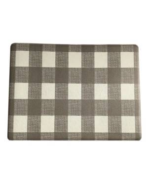 "Elrene Farmhouse Living Buffalo Check Rustic Comfort Anti Fatigue Kitchen Mat, 18""x30""  - Gray/white"