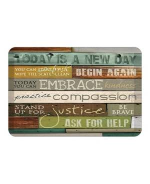 Laural Home New Day Kitchen Mat  - Multi