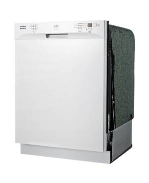 """Spt Appliance Inc. Energy Star 24"""" Built-In Stainless Steel Tall Tub Dishwasher with Heated Drying  - White"""