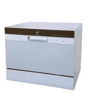 Spt Appliance Inc. Spt Countertop Dishwasher with Delay Start & Led - Silver  - Silver