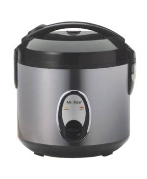 Spt Appliance Inc. Spt 6-Cups Rice Cooker with Stainless Body  - Platinum