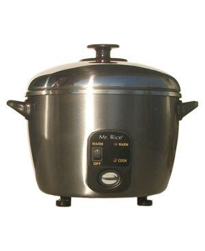 Spt Appliance Inc. Spt 3-Cups Stainless Steel Rice Cooker/Steamer  - Platinum