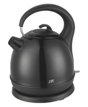 Spt Appliance Inc. Spt 1.7L Stainless Cordless Kettle with Black Coating  - Black