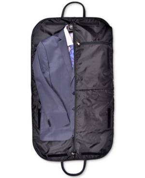 Royce New York Royce Garment Bag Suitcase in Genuine Leather  - Black