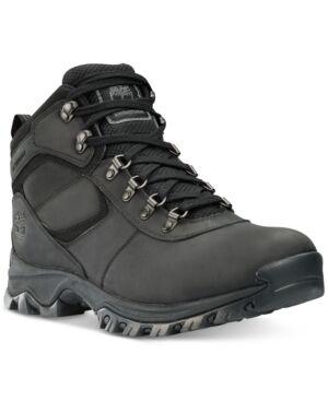 Timberland Men's Mt. Maddsen Mid Waterproof Hiking Boots Men's Shoes  - Black
