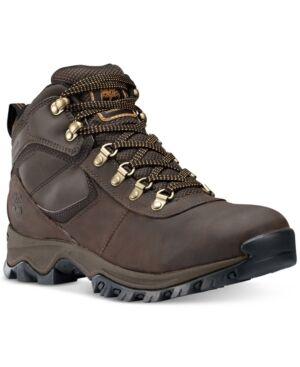 Timberland Men's Mt. Maddsen Mid Waterproof Hiking Boots Men's Shoes  - Dark Brown