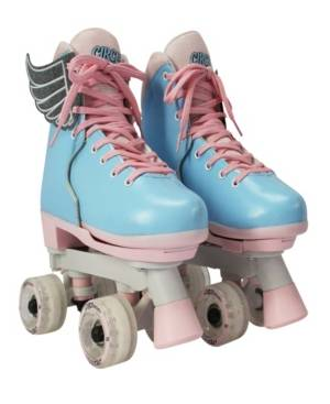"""Circle Society Adjustable """"Cotton Candy"""" Skate  - White"""