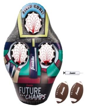 Franklin Sports Inflatable 3-Hole Kids Football Target  - Multi