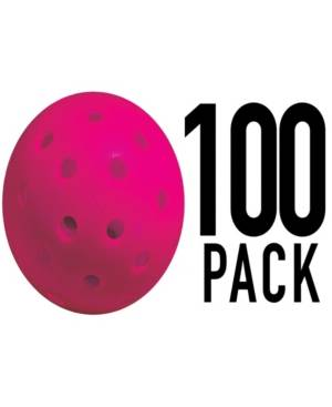 Franklin Sports X-40 Performance Outdoor Pickleballs - United Stes - Uspa Approved (100 Pack)  - Pink