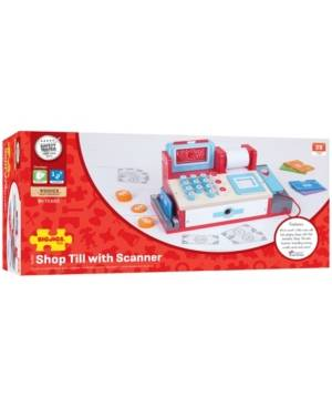 Bigjigs Toys Wooden Shop Till with Scanner