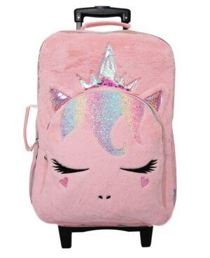 Omg Accessories Omg! Accessories Girls Queen Miss Gwen Plush Luggage  - Pink