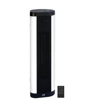 Spt Appliance Inc. Ptc Fan Tower/Baseboard Style Heater with Remote  - Black And White