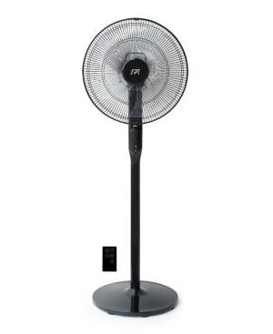 Spt Appliance Inc. 16 Dc-Motor Energy Saving Stand Fan with Remote and Timer  - Piano Black