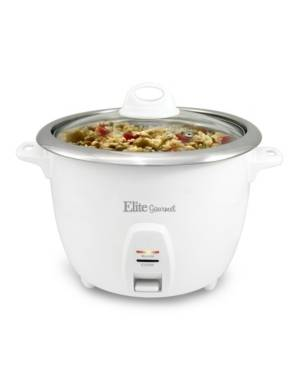 Elite By Maxi-matic Elite Platinum 20 Cup Rice Cooker with Stainless Steel Cooking Pot  - White
