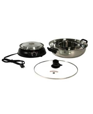 Spt Appliance Inc. Spt Electric Shabu Shabu Pot 2Way  - Black