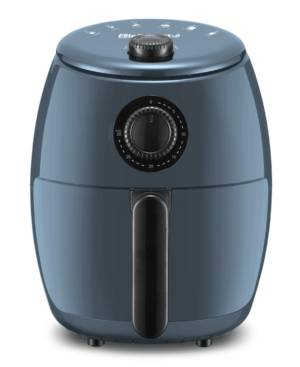 Elite Gourmet 2.1-Qt. Hot Air Fryer with Adjustable Timer and Temperature for Oil-free Cooking  - Blue