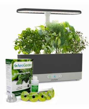 AeroGarden Harvest Slim with Gourmet Herbs Seed Pod Kit  - Black