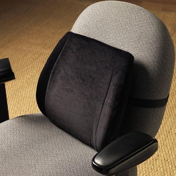 Alex Orthopedic Contour Back Support Cushion Black