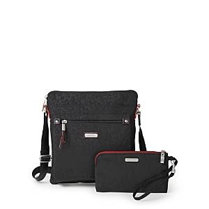 Baggallini New Classic Go Bag with Rfid Phone Wristlet  - Female - Black Cheetah