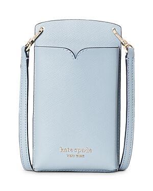 kate spade new york Spencer Saffiano Leather Crossbody Phone Case  - Female - Horizon Blue