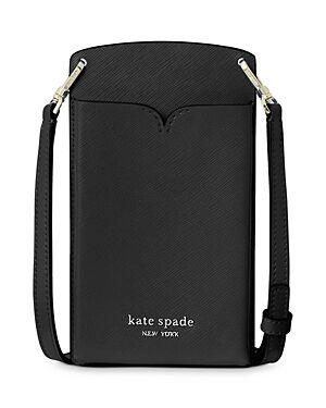 kate spade new york Spencer Saffiano Leather Crossbody Phone Case  - Female - Black