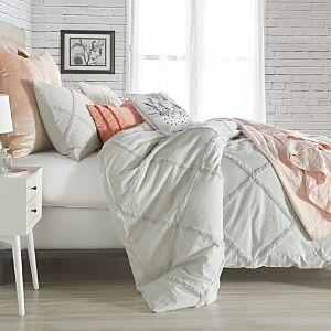 Peri Home Chenille Lattice Comforter Set, King  - Gray