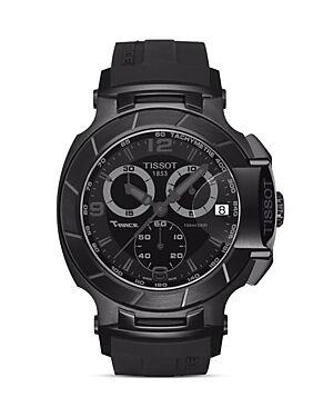 Tissot T-Race Men's Black Quartz Chronograph Sport Watch, 50mm  - Male - Black