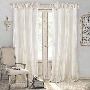 Elrene Home Fashions Jolie Semi-Sheer Window Panel, 52 x 108  - Ivory