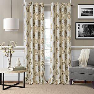 Elrene Home Fashions Navara Blackout Window Panel, 52 x 95  - Natural