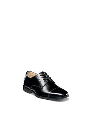 Florsheim Kids Boys' Reveal Cap Toe Oxford Shoes - Toddler, Little Kid, Big Kid  - Male - Black - Size: 12T (Toddler)