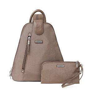 Baggallini New Classic Metro Backpack with Rfid Phone Wristlet  - Unisex - Portobello