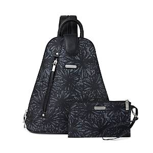 Baggallini New Classic Metro Backpack with Rfid Phone Wristlet  - Unisex - Onyx Floral