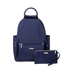 Baggallini Classic All Day Backpack with Rfid Phone Wristlet  - Navy